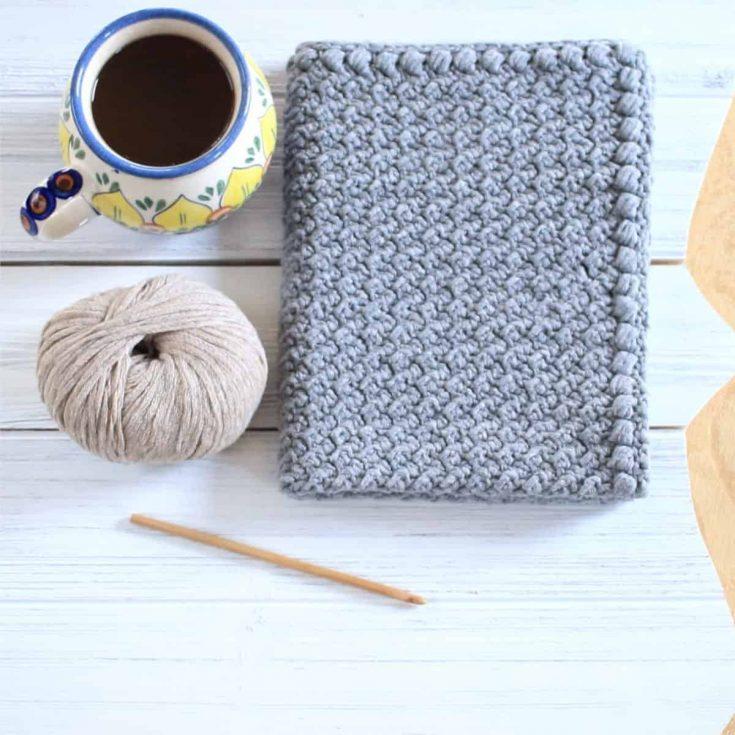 Creek Pebbles Crochet Hand Towel
