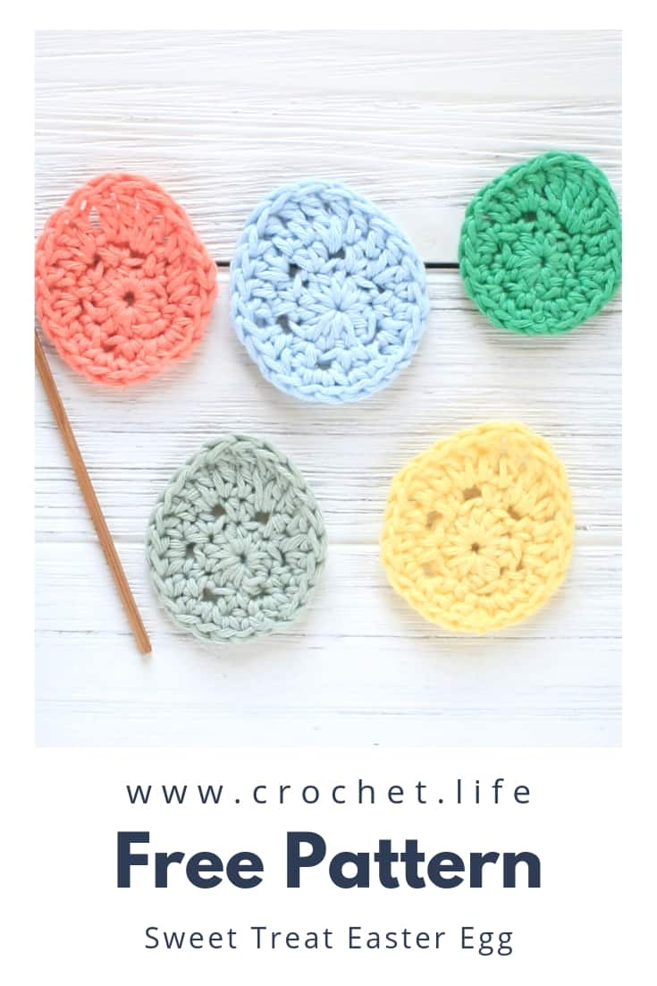 Free Easter Egg Crochet Applique