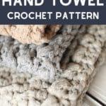 Crochet hand towel collage