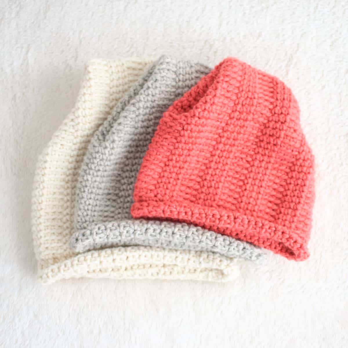 Hill Crest Crochet Hats - Sizes for Entire Family