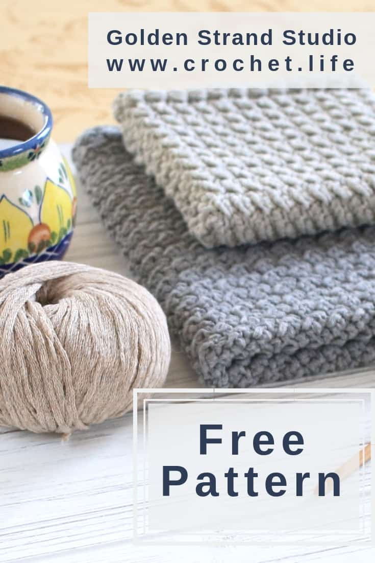 Simple Crochet Pattern To Make A DIY Kitchen Towel