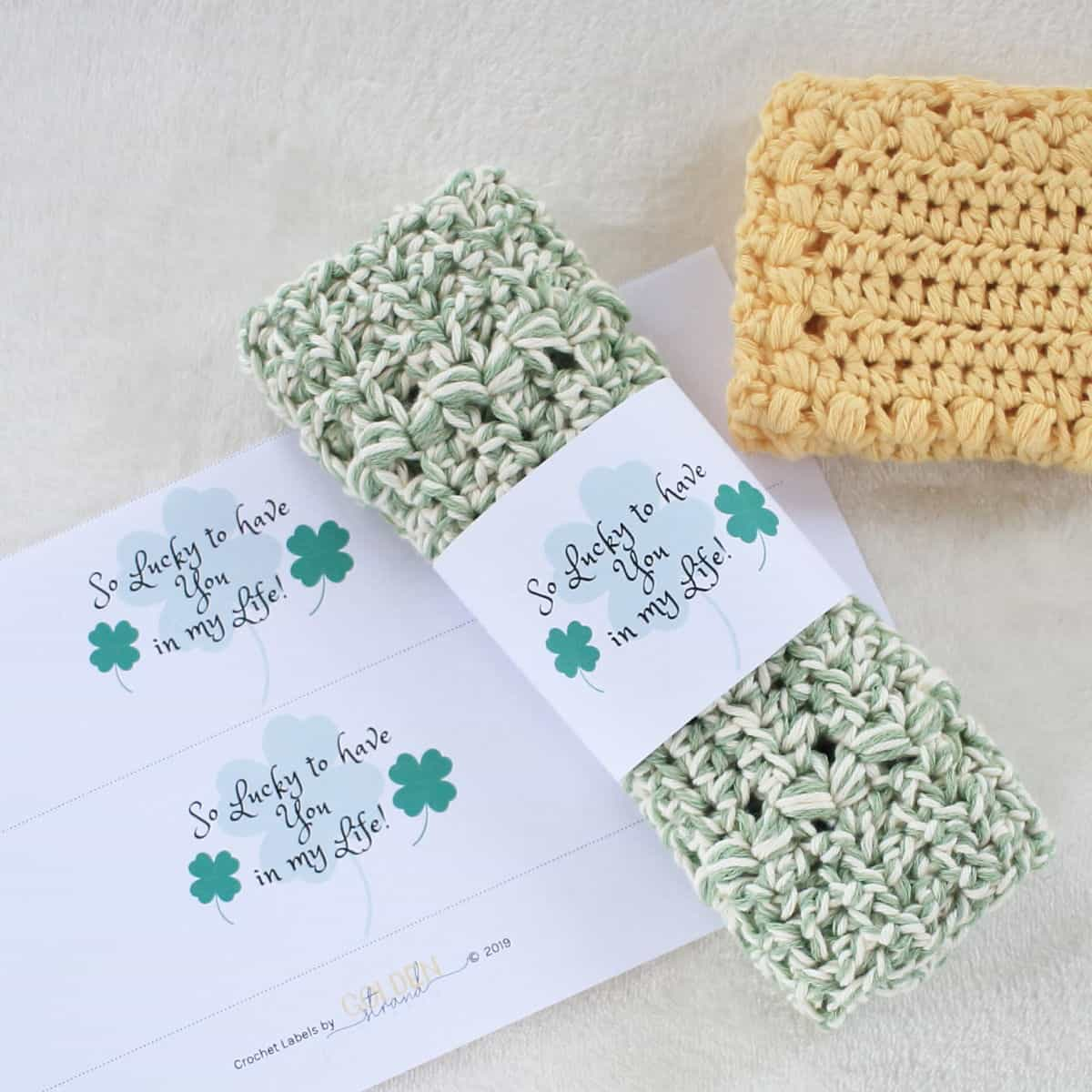 Wrap DIY Handmade Dishcloths with These Special Gift Wraps