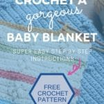 Baby blanket crochet pattern collage