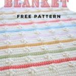 Baby blanket crochet pattern collage