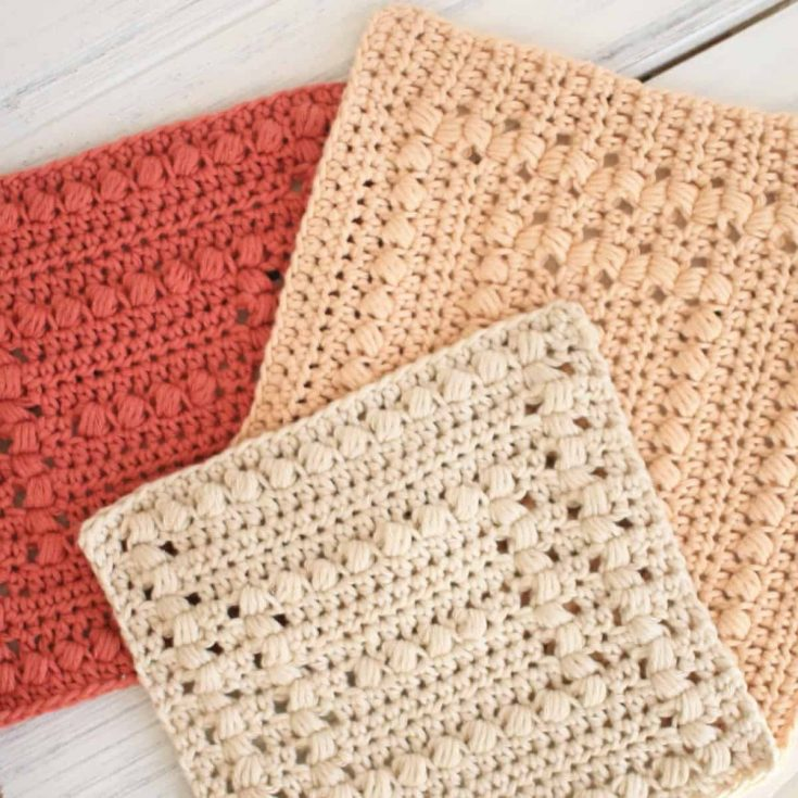 Basin Hollow Crochet Dishcloth Patterns