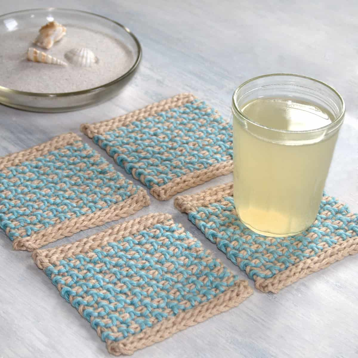 Interlaced Row Crochet Coasters