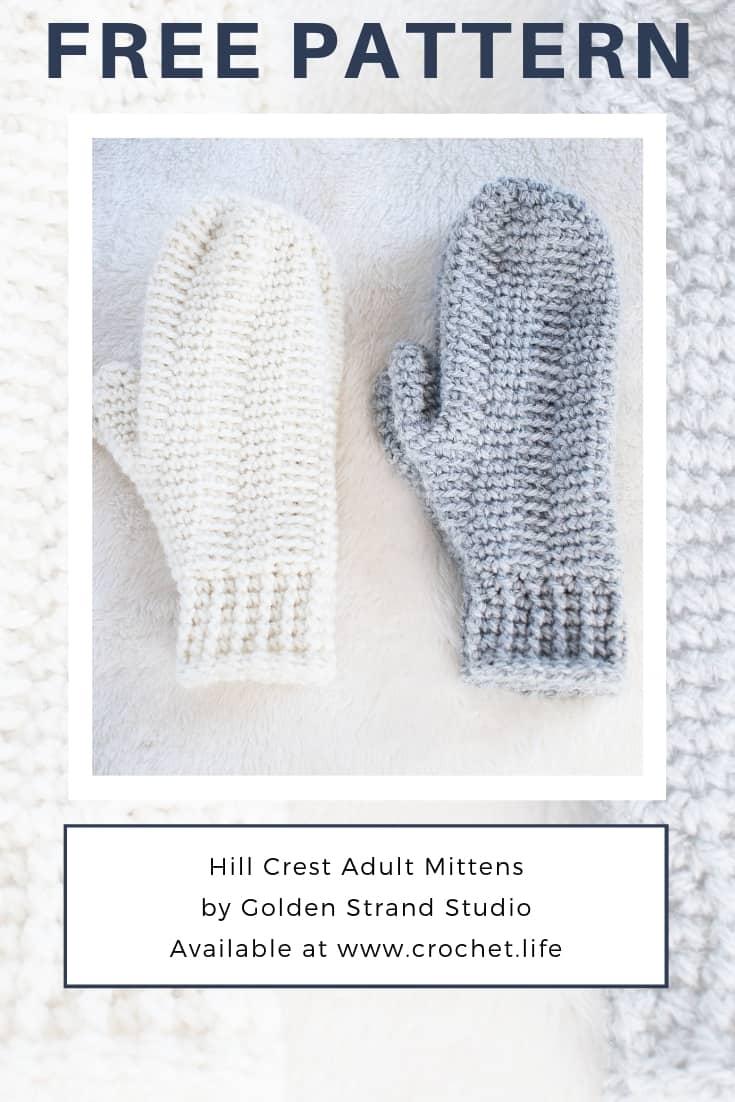 Free Mitten Pattern Hill Crest Design
