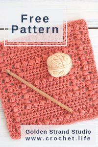 Crochet Dishcloth Puff Stitch Pattern