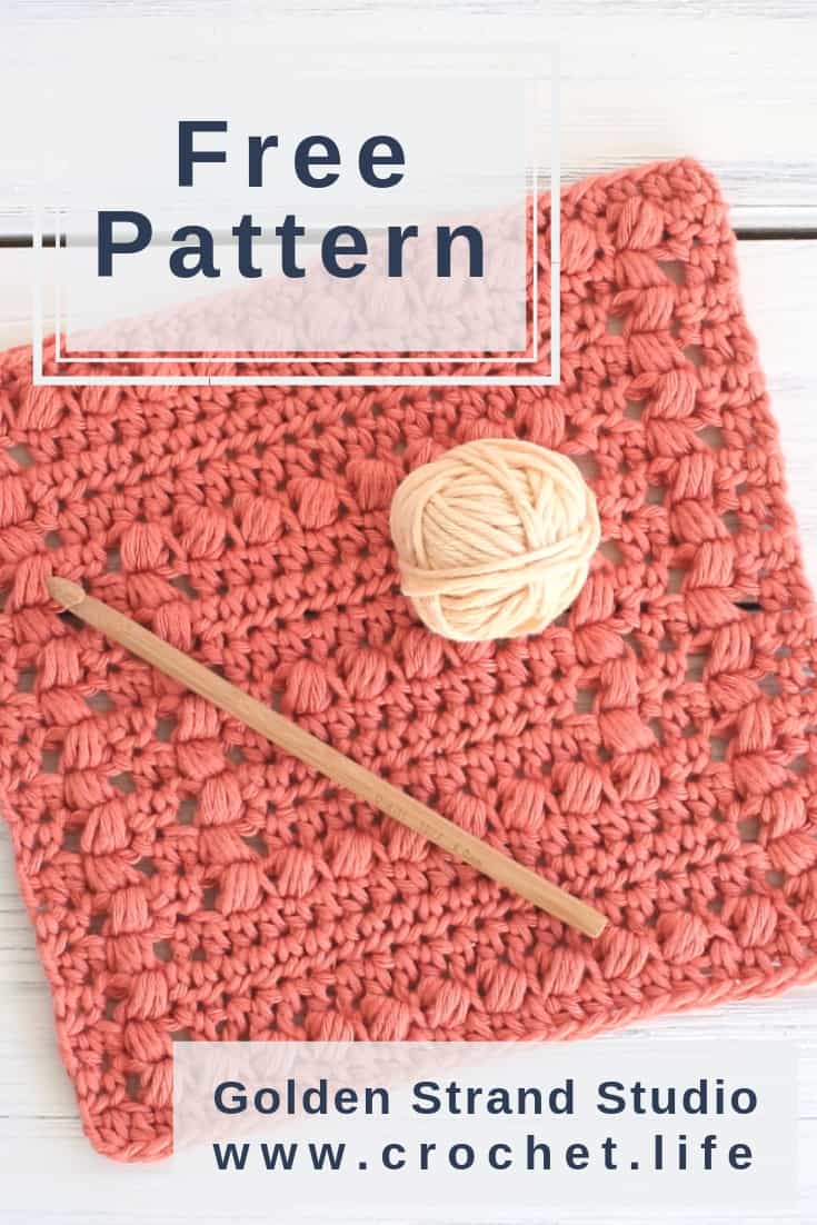 Crochet Dishcloth Puff Stitch Pattern