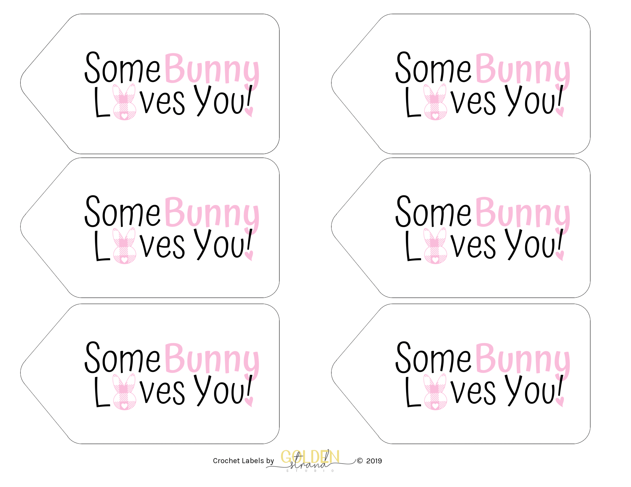 Some Bunny Loves You Gingham Gift Tags