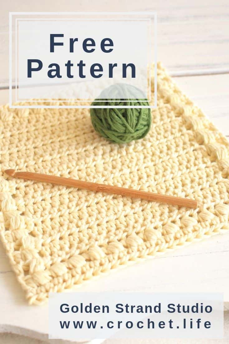 How To Make A Crochet Washcloth Free Pattern Crochet Life
