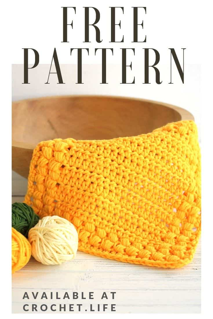 Easy Crochet Cotton Washcloth