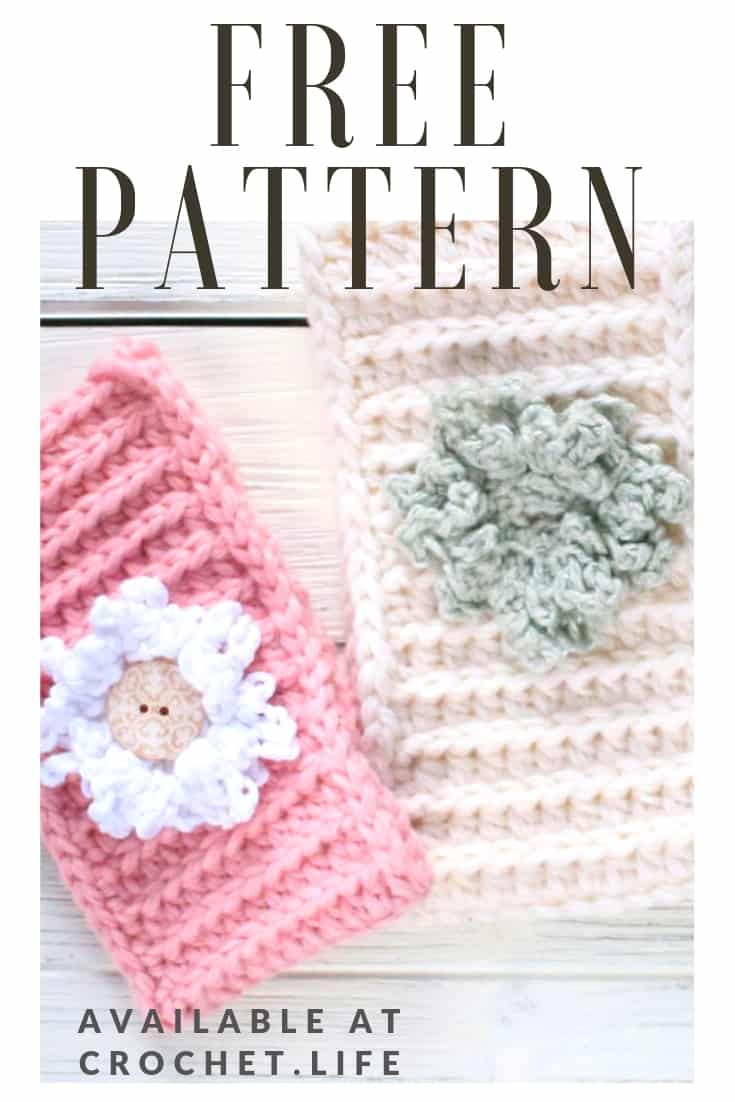 Free Crochet Flower Applique