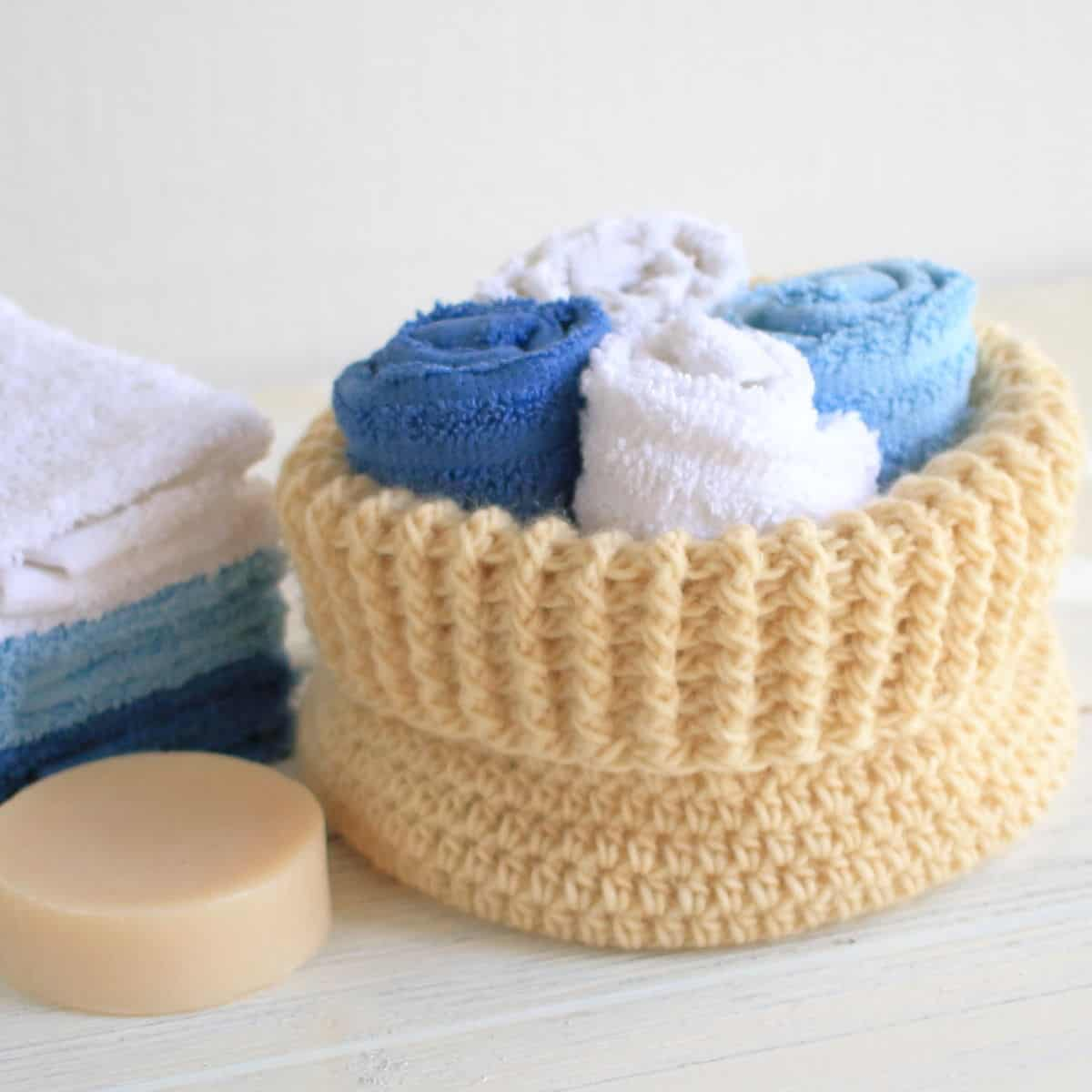 North Cove Crochet Basket Pattern