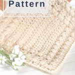 Easy Puff Stitch Textured Dishcloth Pattern