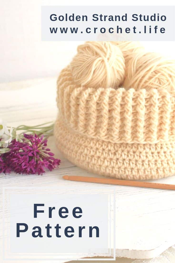 Textured Crochet Basket Free Pattern