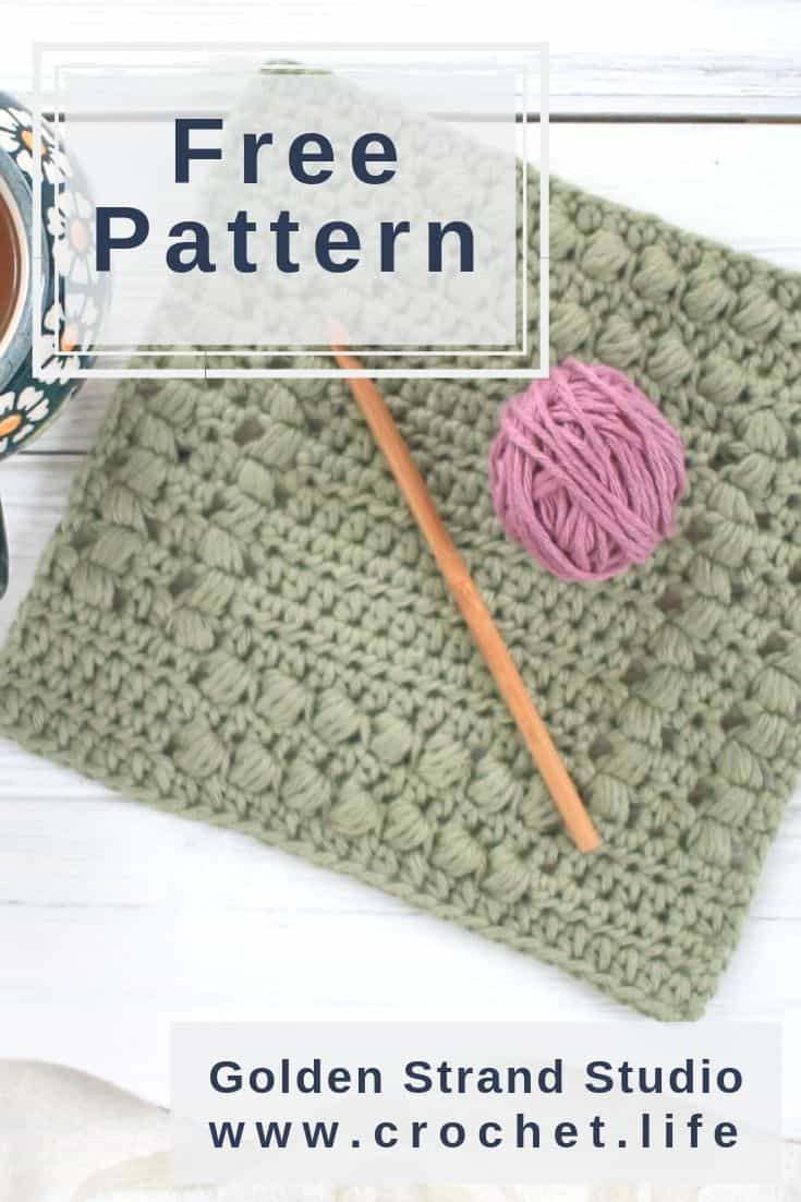 DIY Dishcloths Easy Puff Stitch Texture
