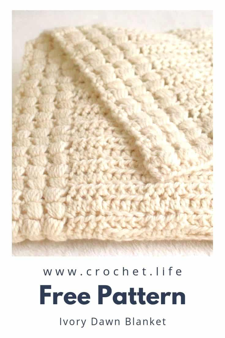 Puff Stitch Border Crochet Blanket Pattern