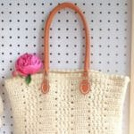 Crochet tote bag collage