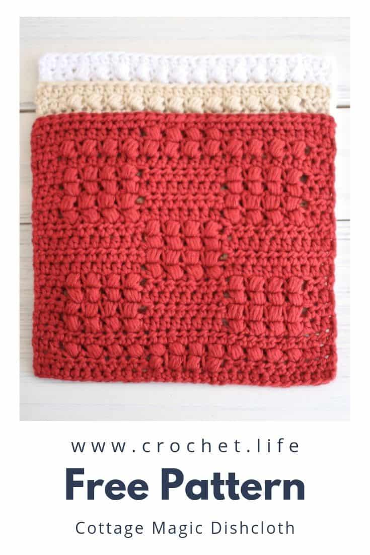 Puff Stitch Textured Crochet Dishcloth Set