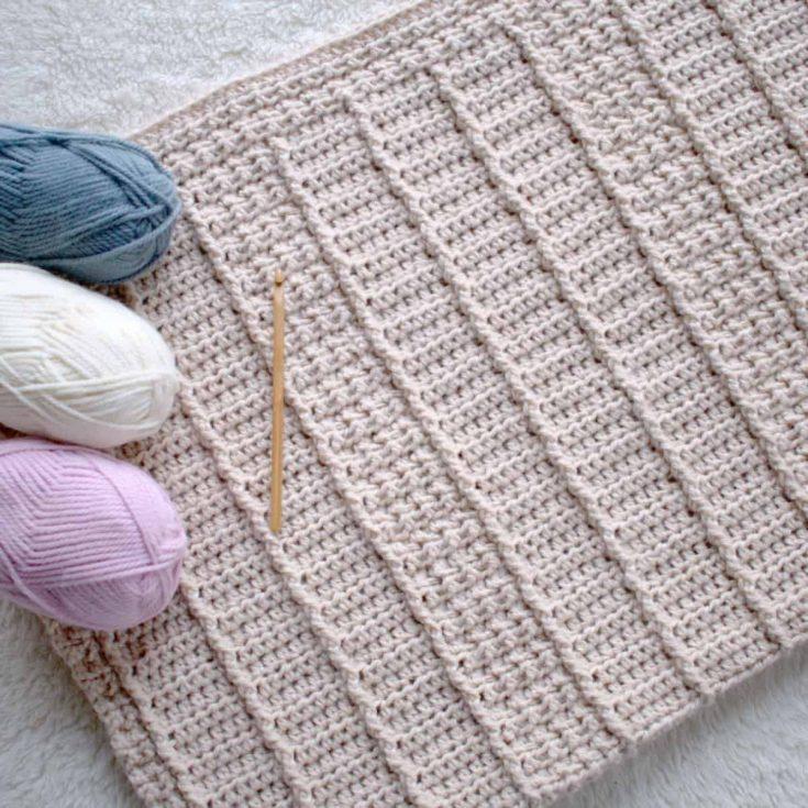 January Snuggles Baby Blanket Crochet Pattern