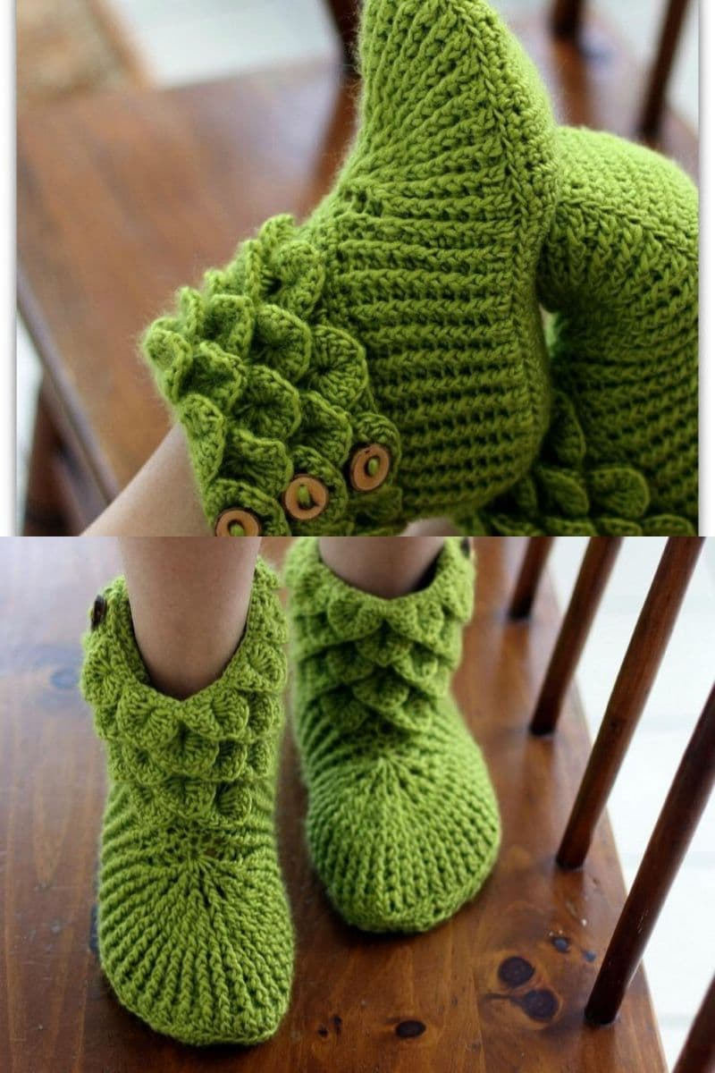 Green dragon scales booties