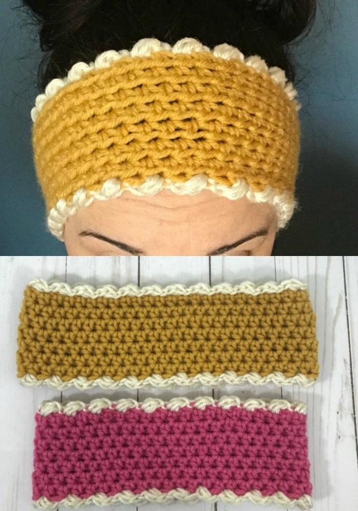 Two Tone Crochet Ear Warmer Pattern