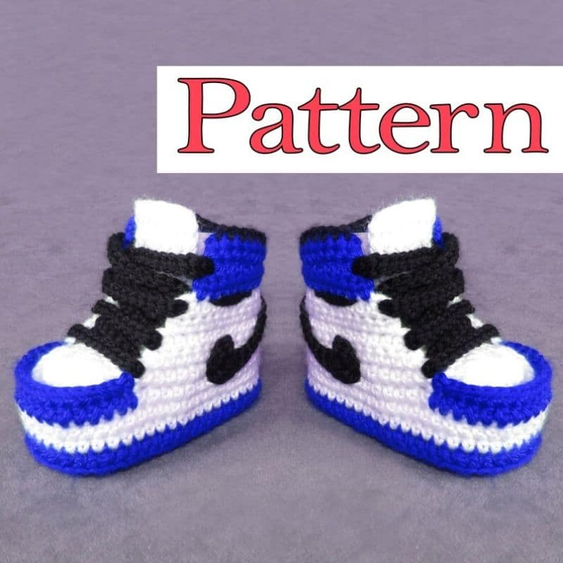 Air jordan crochet baby botties