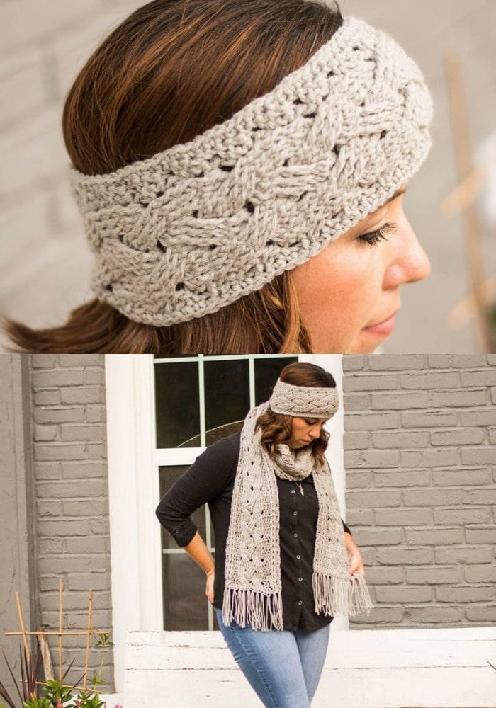 Braided Cable Ear Warmer Crochet Pattern