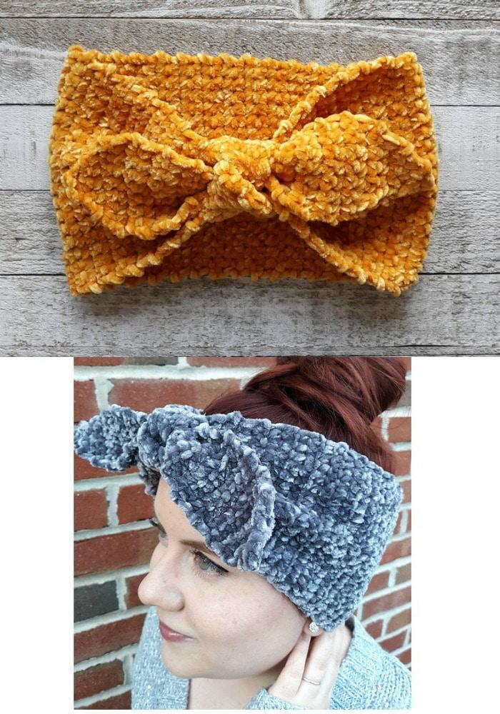 I Love Lucy Inspired Velvet Ear Warmer Pattern