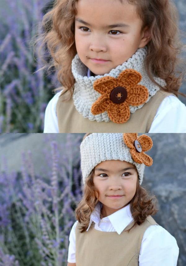 Flower Power Crochet Ear Warmer Pattern