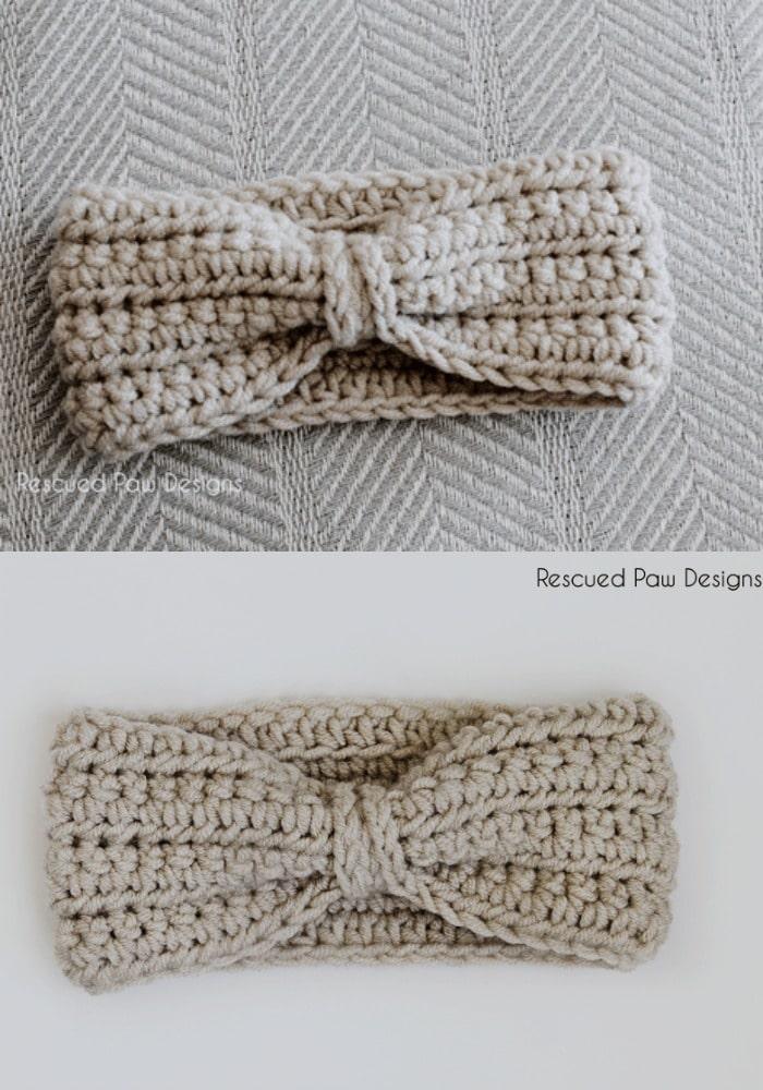 Simple Bow Style Crochet Ear Warmer