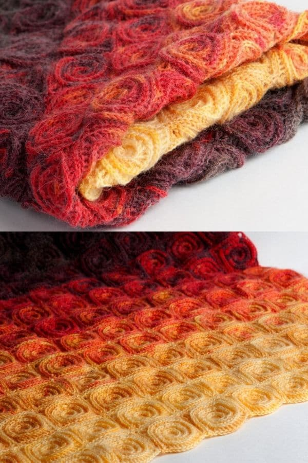 Fire theme rose pattern blanket