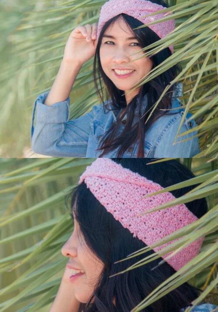 Pink Twist Headband Pattern