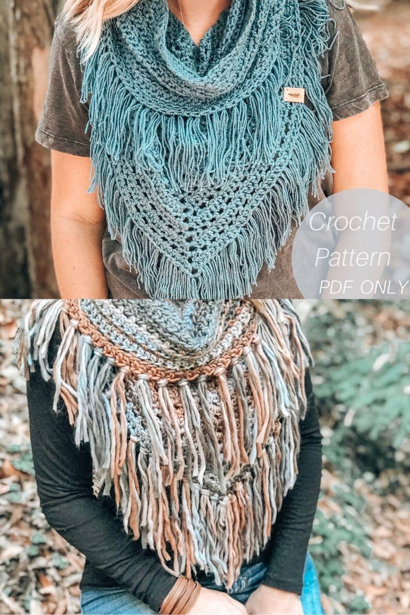 Fringe boho scarf