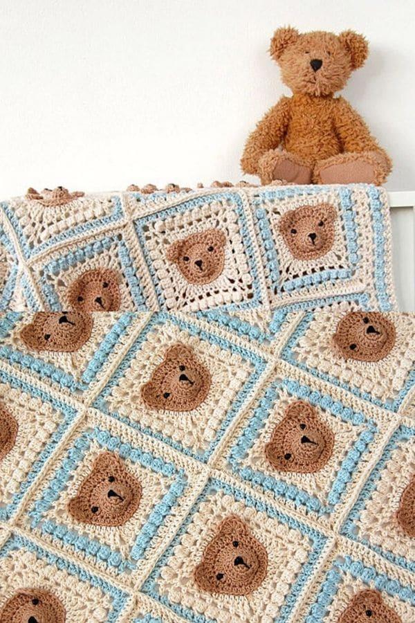 crochet blanket pattern/crochet bear - YouTube | 900x600