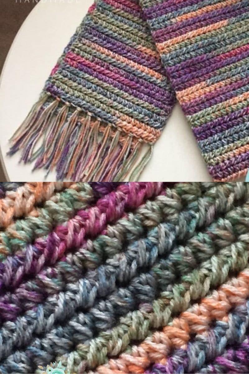 Rainbow color scarf
