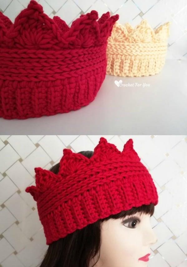 Crochet Crown Ear Warmer Pattern