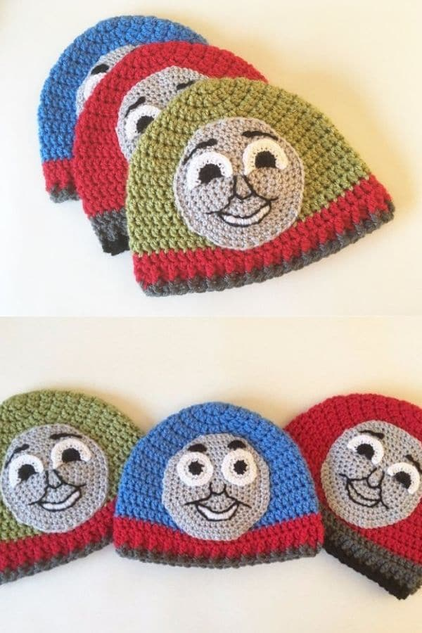 Thomas the tank engine crochet hat