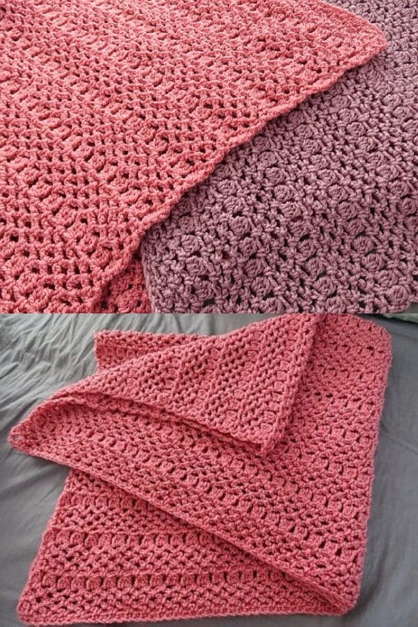 Simple pink and purple blanket