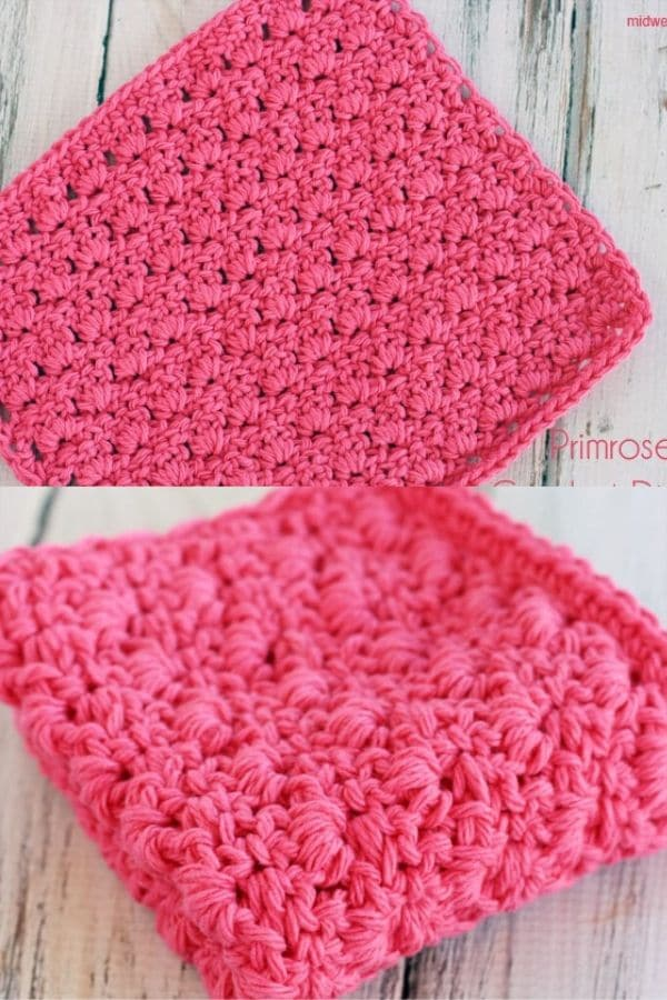 Primrose pink dishcloth
