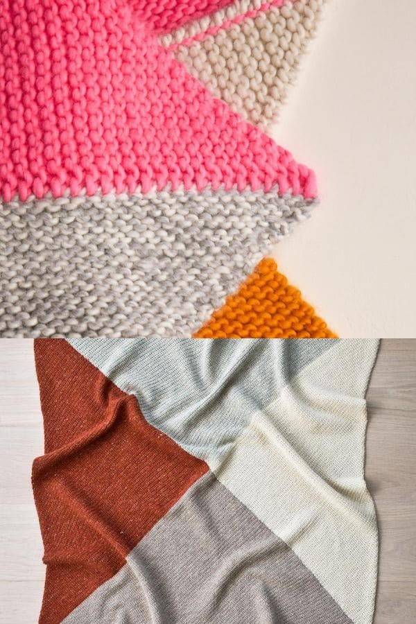 Color block four point blanket