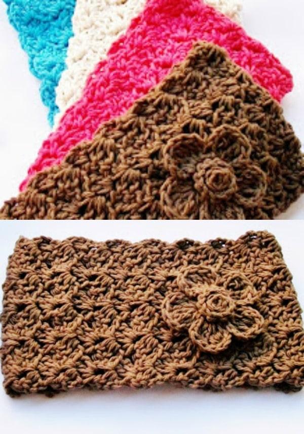 Scalloped Shell Crochet Headband