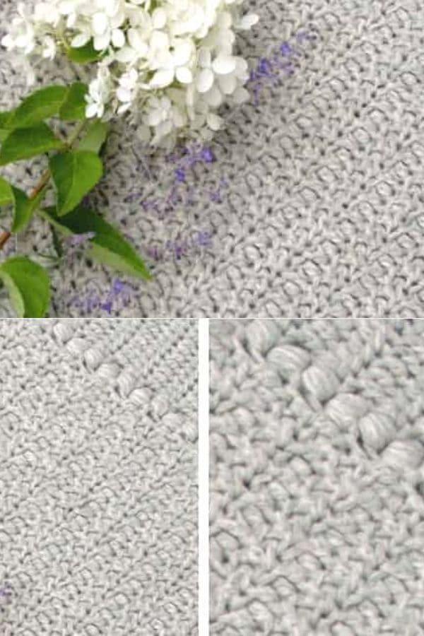 Grey tight woven crochet blanket