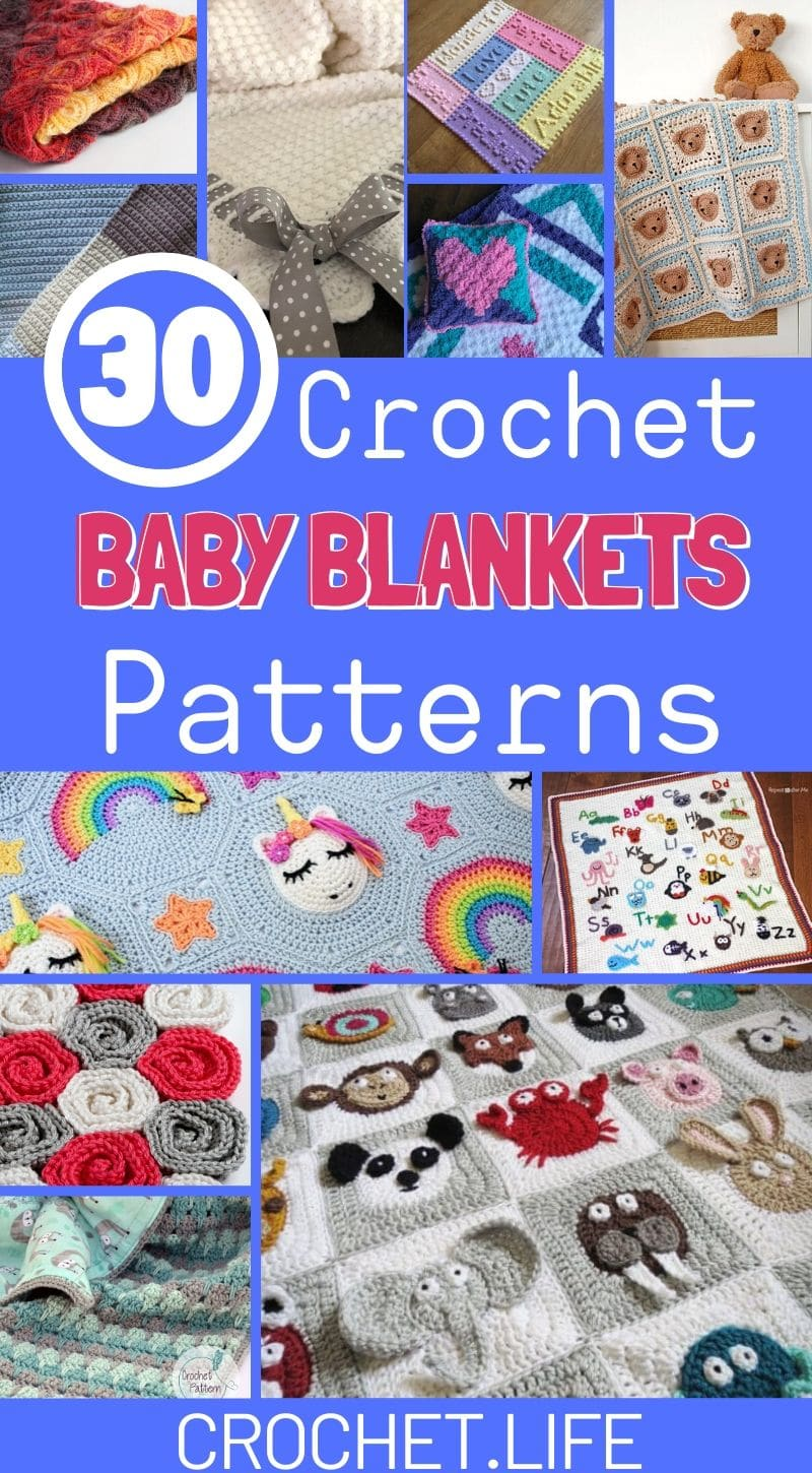 30 Crochet Baby Blanket Patterns