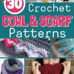Collage image of cowl and scarf patterns