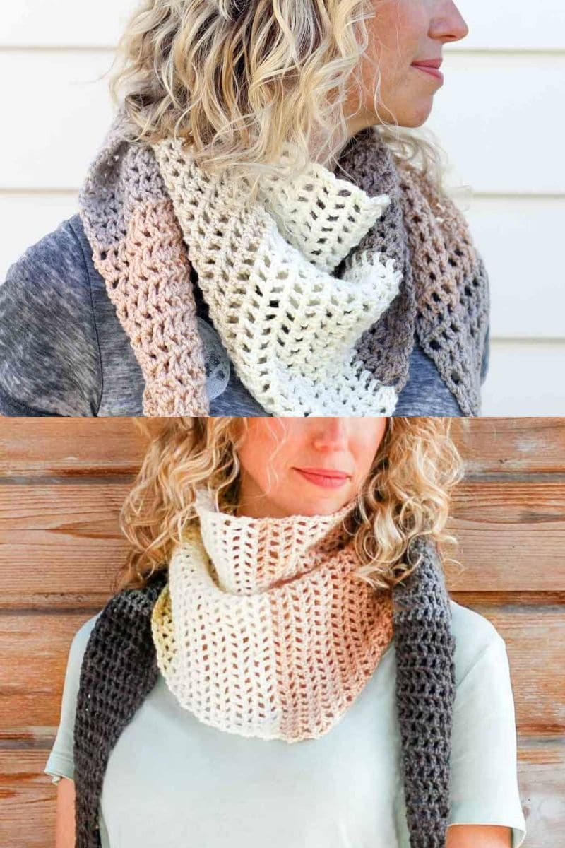 Multiple colored small scarf shawl