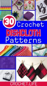 Collage of dishcloth patterns