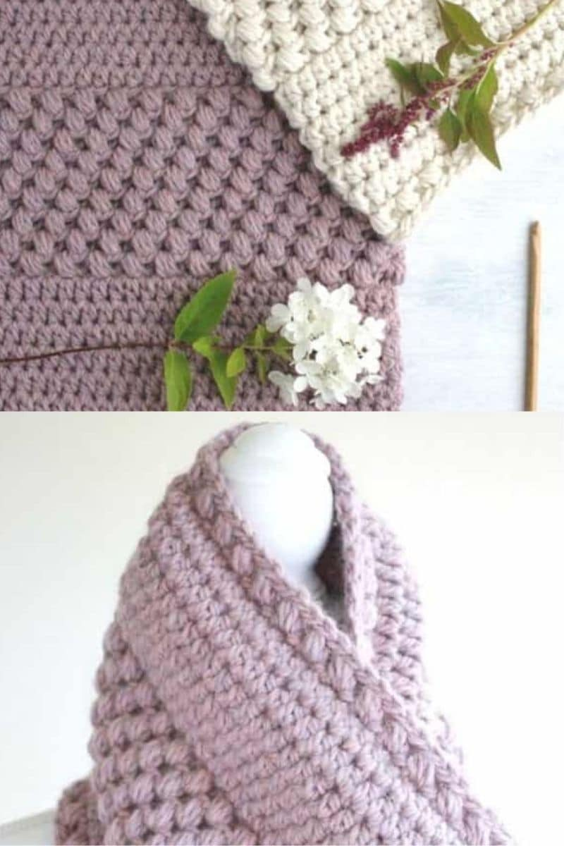 Purple cowl patterns