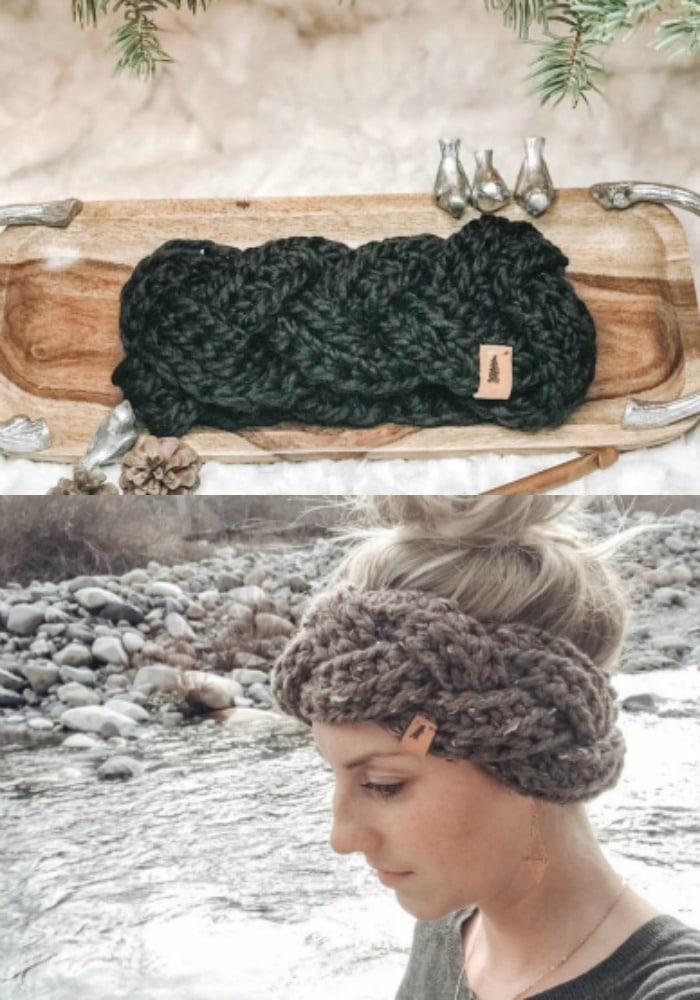 Braided Chunky Pattern Headband Pattern